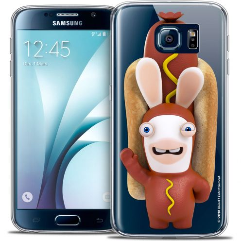 Carcasa Crystal Galaxy S6 Lapins Crétins™ Hot Dog Crétin