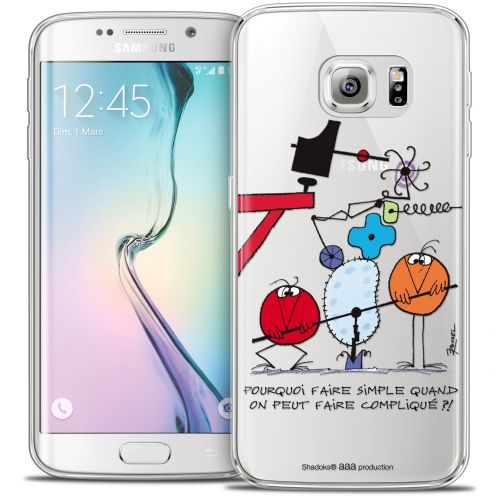 Carcasa Crystal Extra Fina Galaxy S6 Edge Les Shadoks® Pourquoi faire Simple
