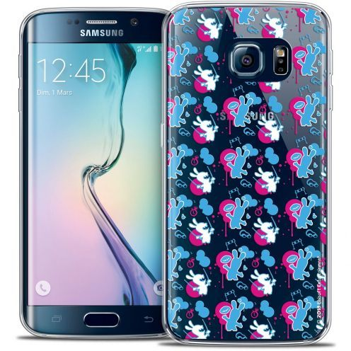 Carcasa Crystal Galaxy S6 Edge Lapins Crétins™ Rugby Pattern