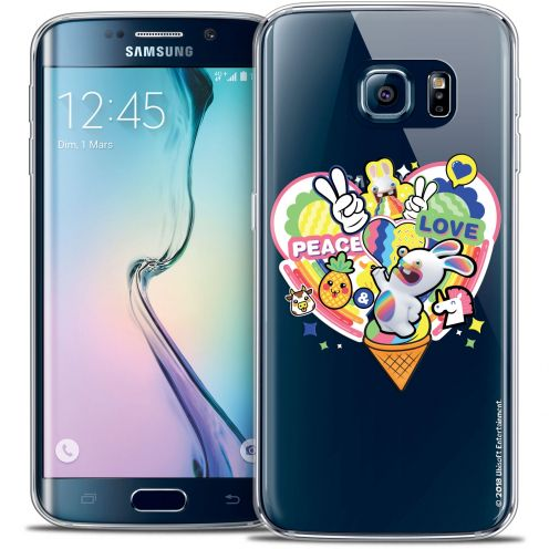 Carcasa Crystal Galaxy S6 Edge Lapins Crétins™ Peace And Love