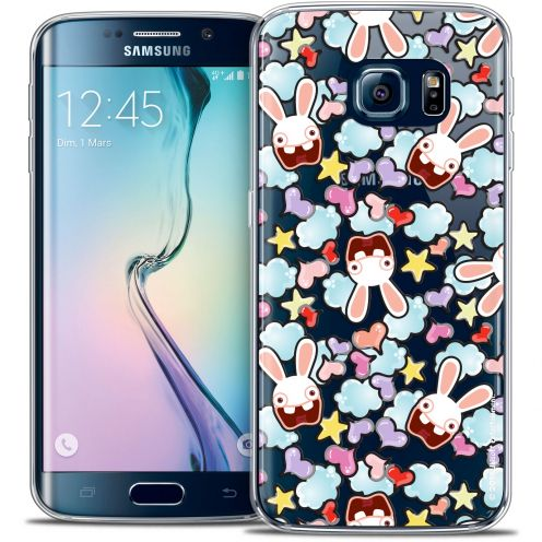 Carcasa Crystal Galaxy S6 Edge Lapins Crétins™ Love Pattern