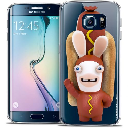 Carcasa Crystal Galaxy S6 Edge Lapins Crétins™ Hot Dog Crétin