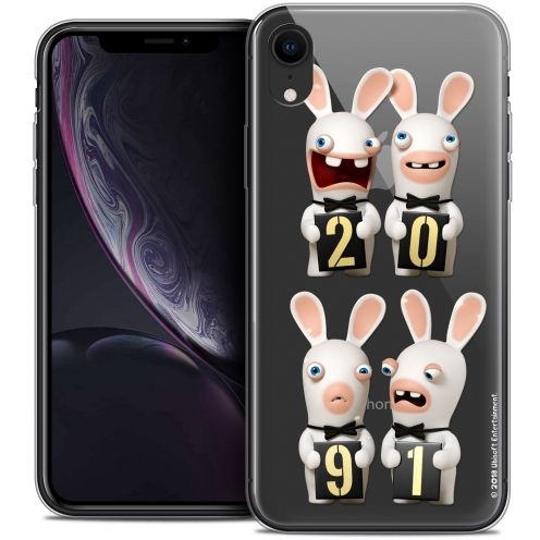 "Carcasa Crystal Gel Apple iPhone Xr (6.1"") Lapins Crétins™ New Year"