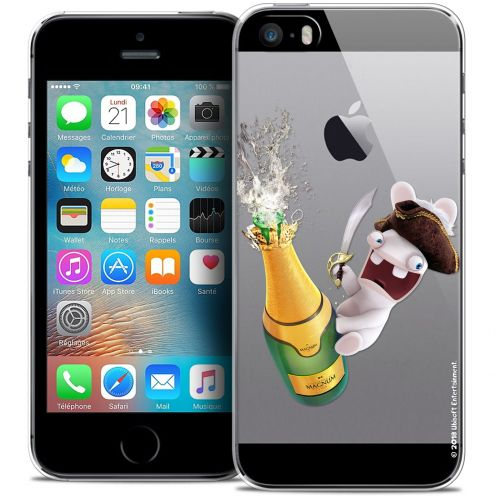 Carcasa Crystal iPhone 5/5s/SE Lapins Crétins™ Champagne !