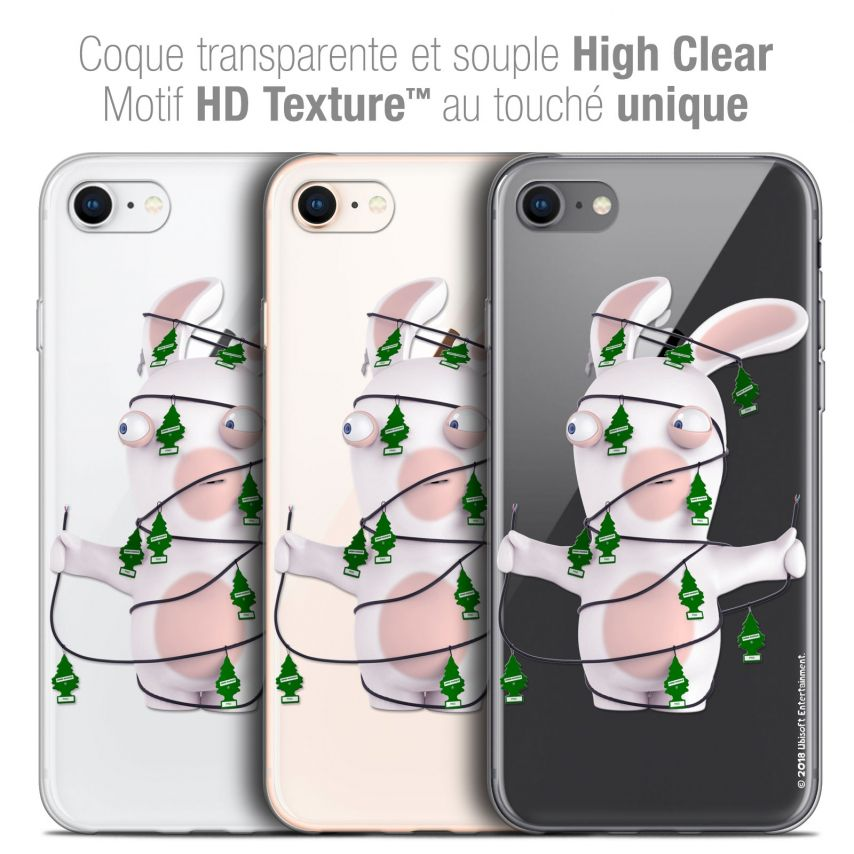 "Carcasa Crystal Gel Apple iPhone 7 (4.7"") Lapins Crétins™ Arbre Crétin"