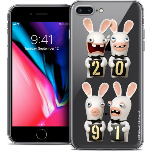 "Carcasa Crystal Gel Apple iPhone 7 Plus (5.5"") Lapins Crétins™ New Year"