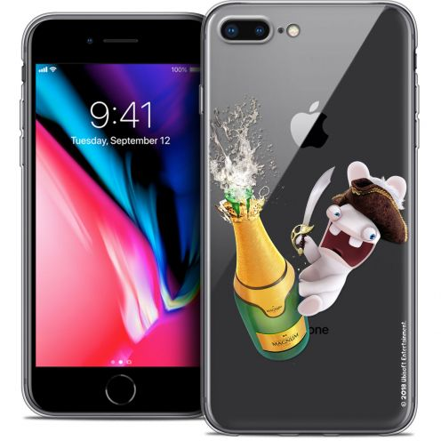 "Carcasa Crystal Gel Apple iPhone 7 Plus (5.5"") Lapins Crétins™ Champagne !"