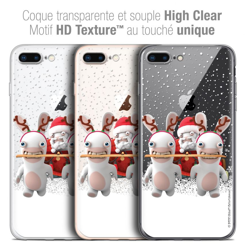 "Carcasa Crystal Gel Apple iPhone 7 Plus (5.5"") Lapins Crétins™ Lapin Traineau"