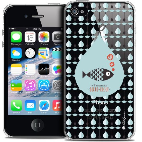Carcasa Crystal Extra Fina iPhone 4/4s Petits Grains® Le Poisson