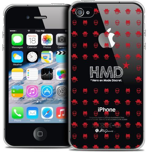 Carcasa Crystal Extra Fina iPhone 4/4s Petits Grains® HMD* Hero en Mode Discret