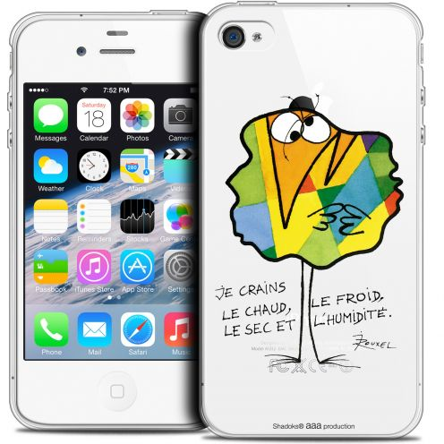 Carcasa Crystal Extra Fina iPhone 4/4s Les Shadoks® Chaud ou Froid