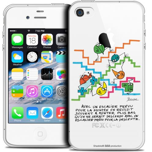 Carcasa Crystal Extra Fina iPhone 4/4s Les Shadoks® L'escalier