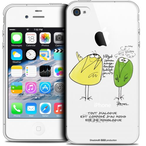 Carcasa Crystal Extra Fina iPhone 4/4s Les Shadoks® Le Dialogue