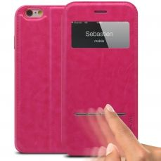 Funda Folio iPhone 6 Plus Smart Touch View Rosa