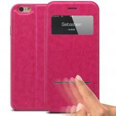 Funda Folio iPhone 6 Plus Smart Touch View Rosa