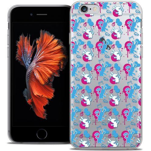 Carcasa Crystal iPhone 6/6s Lapins Crétins™ Rugby Pattern