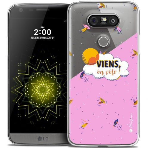 Carcasa Crystal Extra Fina LG G5 Petits Grains® VIENS, On Vole !