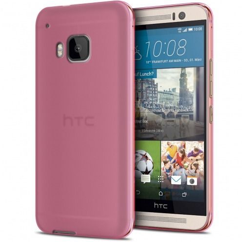 Carcasa HTC One M9 Frozen Ice Extra Fina Gel Rosa