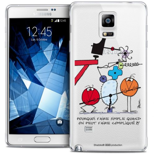 Carcasa Crystal Extra Fina Galaxy Note 4 Les Shadoks® Pourquoi faire Simple