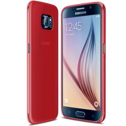 Carcasa Samsung Galaxy S6 Frozen Ice Extra Fina Gel Roja