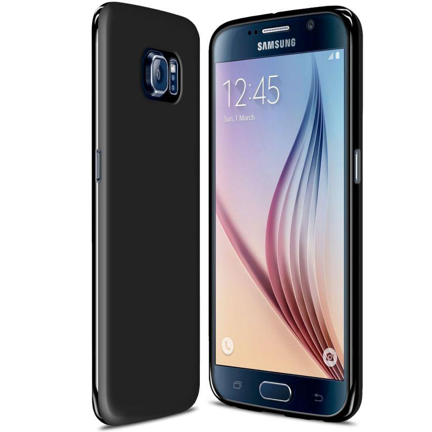 Carcasa Samsung Galaxy S6 Frozen Ice Extra Fina Gel Negro Opaco