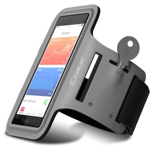 "Brazalete Clubcase® iPhone 6/6s Universal 4 a 4.7"" S/M/L Gris"
