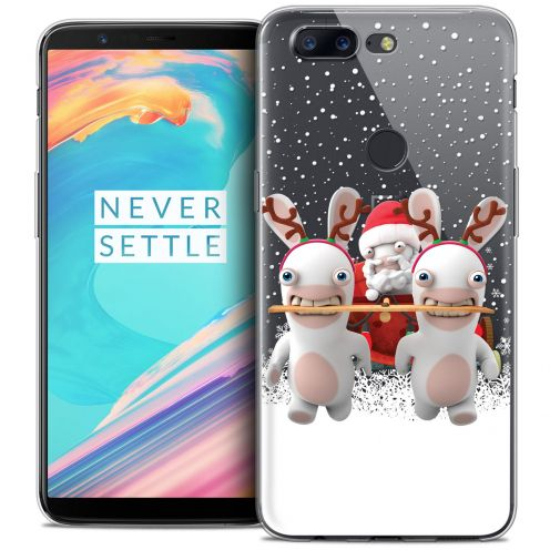 """Carcasa Crystal Gel OnePlus 5T (6"""") Lapins Crétins™ Lapin Traineau"""