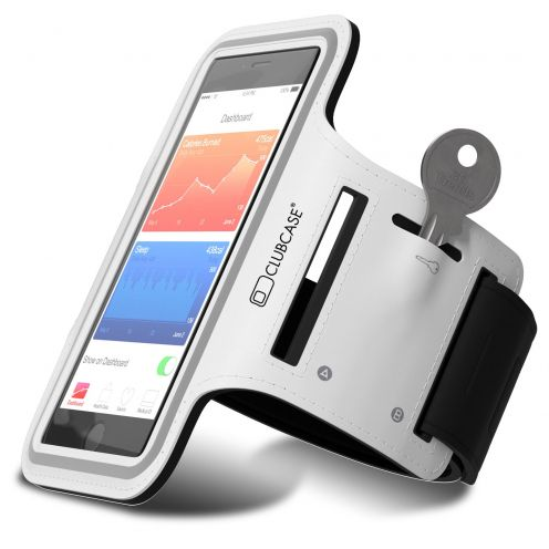 "Brazalete Clubcase® iPhone 6/6s+ Universal 4.7 a 5.5"" S/M/L Blanco"