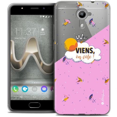 Carcasa Crystal Gel Extra Fina Wiko U Feel PRIME Petits Grains® VIENS, On Vole !