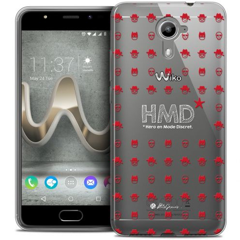Carcasa Crystal Gel Extra Fina Wiko U Feel PRIME Petits Grains® HMD* Hero en Mode Discret