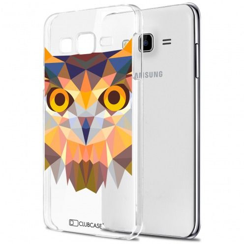 Carcasa Crystal Extra Fina Galaxy J7 (J700) Polygon Animals Búho