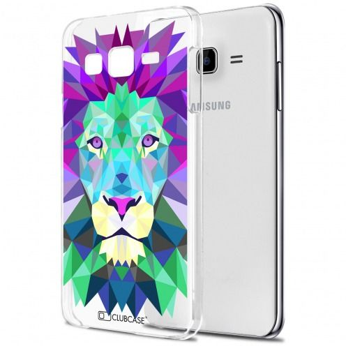 Carcasa Crystal Extra Fina Galaxy J7 (J700) Polygon Animals León