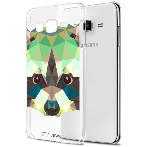 Carcasa Crystal Extra Fina Galaxy J7 (J700) Polygon Animals Mapache