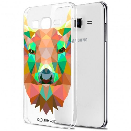 Carcasa Crystal Extra Fina Galaxy J7 (J700) Polygon Animals Ciervo
