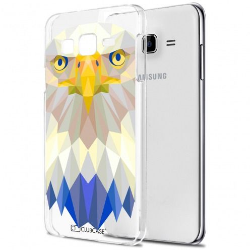 Carcasa Crystal Extra Fina Galaxy J7 (J700) Polygon Animals Águila