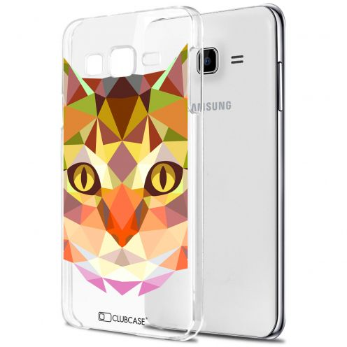 Carcasa Crystal Extra Fina Galaxy J7 (J700) Polygon Animals Gato