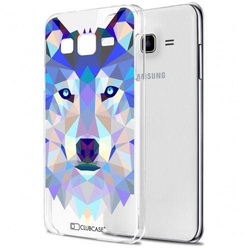 Carcasa Crystal Extra Fina Galaxy J7 (J700) Polygon Animals Lobo