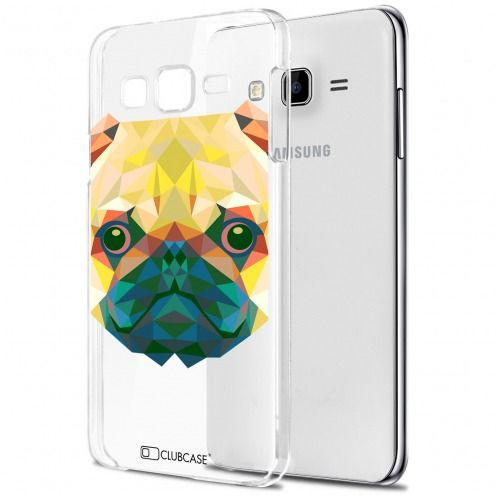 Carcasa Crystal Extra Fina Galaxy J7 (J700) Polygon Animals Perro