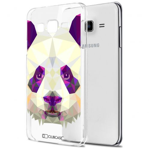 Carcasa Crystal Extra Fina Galaxy J7 (J700) Polygon Animals Panda