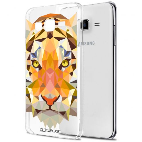 Carcasa Crystal Extra Fina Galaxy J7 (J700) Polygon Animals Tigre
