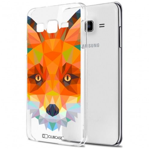 Carcasa Crystal Extra Fina Galaxy J7 (J700) Polygon Animals Zorro