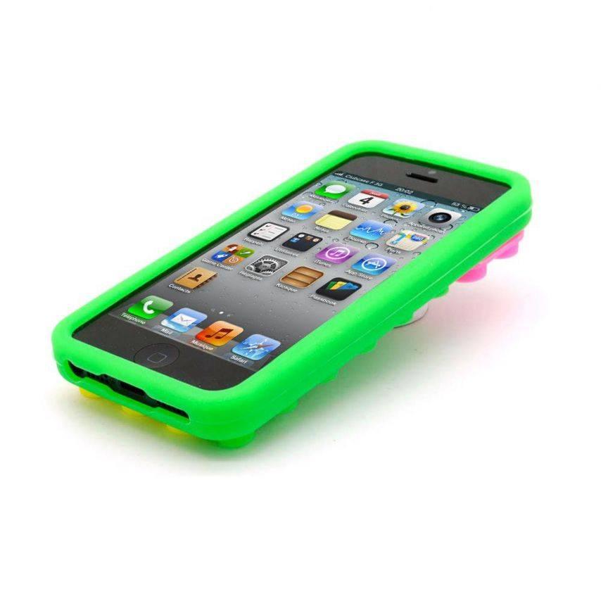 """Bloques de diseño """"LEGO"""" del casco verde, amarillo y Rosa iPhone 5"""