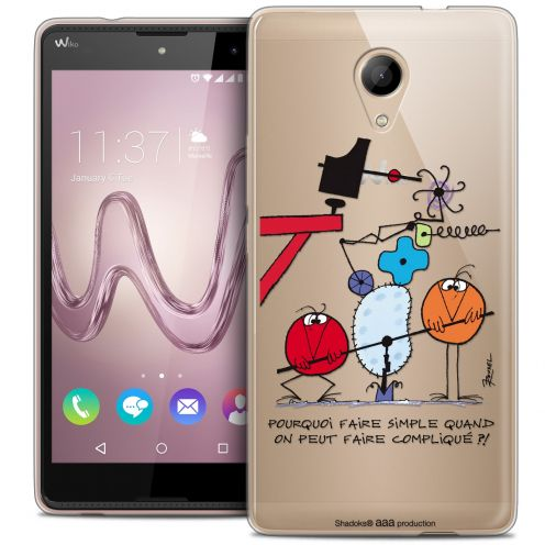 Carcasa Crystal Gel Extra Fina Wiko Robby Les Shadoks® Pourquoi faire Simple