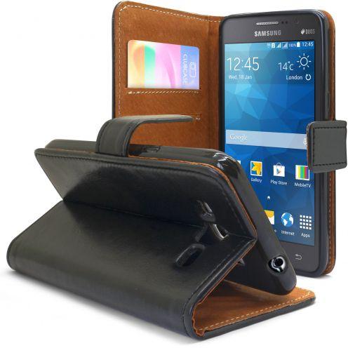 Funda Italia Foliopara Samsung Galaxy Grand Prime Cuero AuténticoNegro