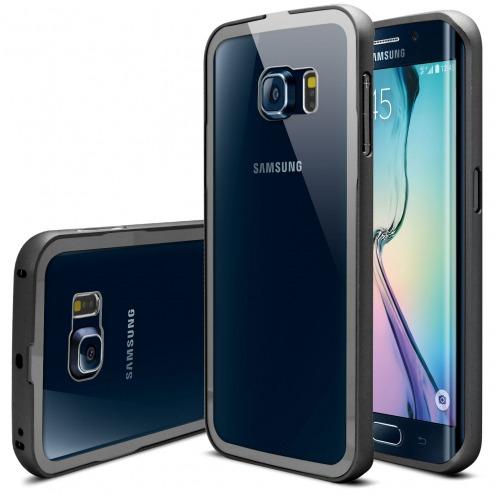 Bumper Samsung Galaxy S6 Edge +/Plus Aluminium y Ventana Negro