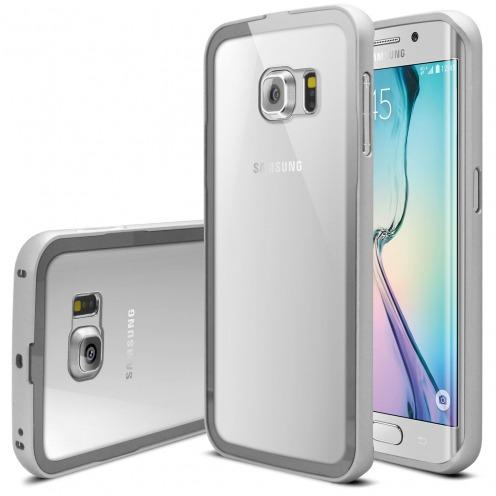 Bumper Samsung Galaxy S6 Edge +/Plus Aluminium y Ventana Plata