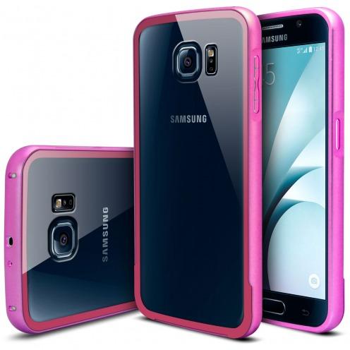 Bumper Samsung Galaxy S6 Aluminium y Ventana Rosa