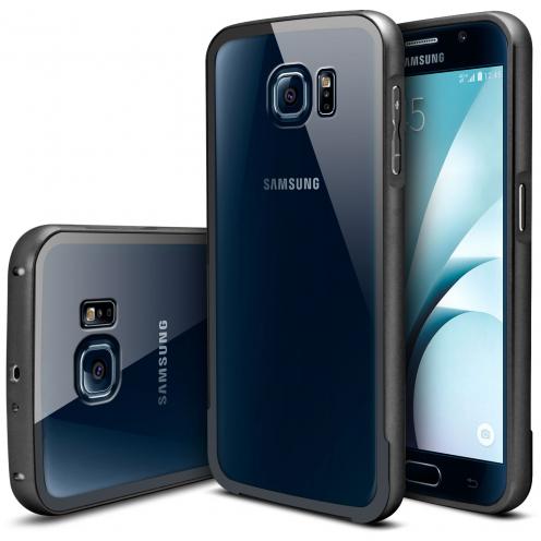 Bumper Samsung Galaxy S6 Aluminium y Ventana Negro