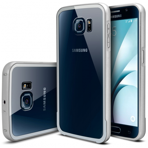 Bumper Samsung Galaxy S6 Aluminium y Ventana Plata