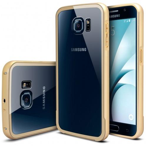 Bumper Samsung Galaxy S6 Aluminium y Ventana Oro
